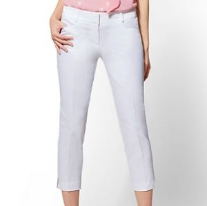 Blue New York & Co Crop Straight Leg Pant 14 NWT